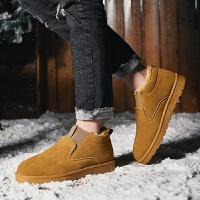 2019雪地靴冬季男鞋加绒棉靴子韩版男士百搭马丁靴潮流短靴棉鞋