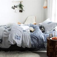 学生宿舍单人床单三件套 被套儿童床上用品 棉三件套1.2米床品k