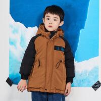 【2件2.5折后到手价:299.75元】马拉丁童装男童羽绒服冬装新款撞色90白鸭绒连帽羽绒外套