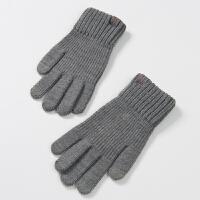 针织 男士手套冬季保暖 冬天可以用玩手机手套触摸屏薄款男冬学生