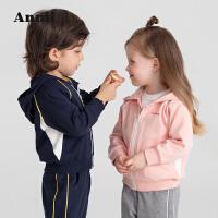 【2件4折价:159.6】安奈儿童装男女童秋季套装2021新款洋气宝宝运动装外套裤子两件装