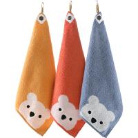 擦手巾方巾小毛巾挂式棉吸水可爱四方毛巾儿童棉小毛巾