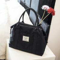 短途旅行包女行李包女手提包袋行李袋韩版出差便携包旅行袋大容量 黑