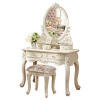 欧式梳妆台 卧室梳妆台实木化妆台 简约田园小户型化妆柜3sg