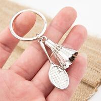 羽毛球拍钥 匙扣 创意汽车男士女士钥匙链挂件 锁匙扣钥匙圈环