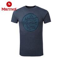 Marmot/土拨鼠户外运动趣味印花轻量柔软男款圆领短袖T恤