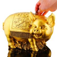 铜猪摆件铜猪工艺品 存钱罐猪家居饰品 风水招财猪十二生肖