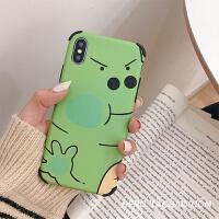 卡通软壳8plus苹果x手机壳XS Max/XR/iPhoneX/7p/6女iphone6s硅胶 6/6s 绿色小恐龙