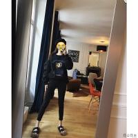 黑色铅笔裤女2018秋韩版修身可外穿打底裤小脚裤 黑色(第二批)