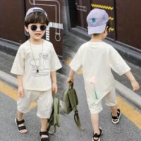 童装男童夏装套装洋气男宝宝两件套中小童衣服