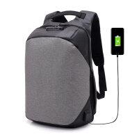 男士双肩包新款密码锁防盗商务背包USB充电防水大容量电脑包