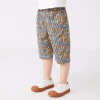 【秒杀价:129元】马拉丁童装男大童裤子2020夏装新款印花图案宽松百搭棉布中裤