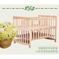 双胞胎婴儿床带摇篮储物柜加宽长实木童床环保双人宝宝床多省