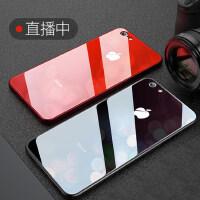 苹果6splus手机壳iphone6Plus全包防摔i6潮男女款玻璃硅胶六套6s超薄新款软潮牌6P个性创意保护puls黑