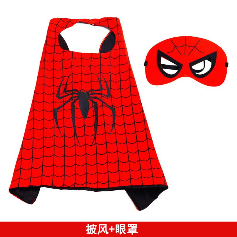 万圣节蜘蛛侠面具玩具儿童套装手套发射器面罩头套披风装备盾牌