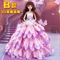 20181225024159029换装克时帝芭比婚纱娃娃套装礼盒3D真眼12关节玩具衣服裙子洋娃娃