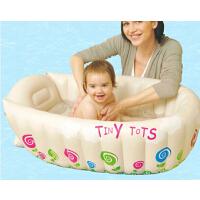 舒适大容量婴儿洗澡浴盆充气浴盆 实用宝宝洗澡充气盆