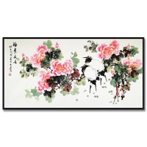 国家一级美术师、中国美术家协会会员 陈忠南《福寿常喜》