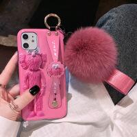 暴力熊芝麻街苹果11手机壳iPhone x潮牌高档11pro卡通8plus腕带11Promax硅胶xs max网红女7