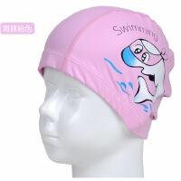儿童泳帽男童女童宝宝PU防水泳帽透气护耳涂层游泳帽