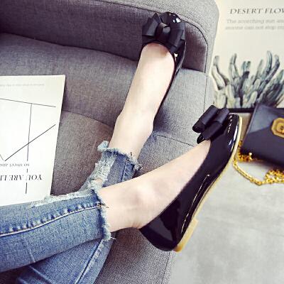 瓢鞋女春秋季圆头小码33-34浅口平底单鞋工作鞋平跟大码女鞋40-43
