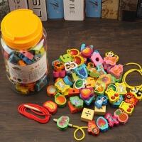 3-4-6岁男女孩穿线积木玩具宝宝穿珠子木制儿童串珠