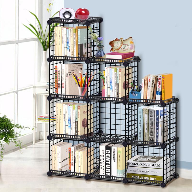 创意儿童收纳柜现代简约书架置物架简易学生格子组合落地柜 全店支持7天无理由