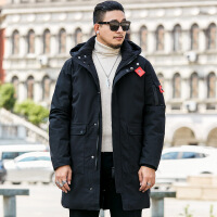 棉衣男中长款加肥加大码胖子宽松加厚大衣韩版潮流外套男
