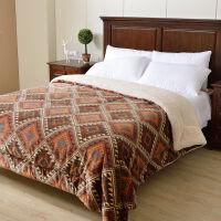 三层仿羊羔绒毛毯加厚双层冬季盖毯珊瑚绒毯被子法兰绒毯子单双人k