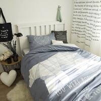 棉床上三件套单人床学生宿舍被套棉被单儿童床单