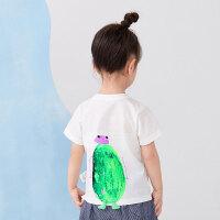 【秒杀价:59元】马拉丁童装男小童T恤2020夏装新款印花设计可爱百搭短袖T恤