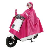 电动摩托车雨衣双帽檐雨披男女单人骑行双面罩加大雨衣