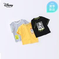 【119元4件】迪士尼宝宝快乐星球男童针织时尚短袖T恤夏季新品