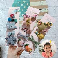 儿童发饰品发圈发夹套装宝宝头饰头绳组合幼儿园皮筋发卡