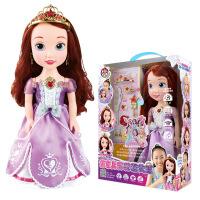 智能娃娃说话贝儿仙蒂冰雪苏菲亚女孩玩具3-6岁5礼物 -高34.5厘米