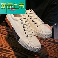 新品上市板鞋男鞋韩版潮流百搭街拍男生学生个性韩国小白鞋帆布鞋