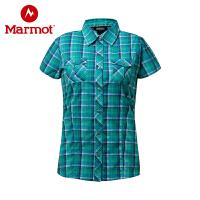 【下单即享折上4折优惠】Marmot/土拨鼠女士衬衣夏季轻薄款防晒速干排汗短袖衬衫A67730