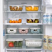 双层塑料保鲜盒便当碗微波炉加热饭盒冰箱收纳盒密封盒食品整理盒