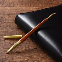 大红酸枝签字笔金属黄铜黑檀木质中性笔公司商务礼品