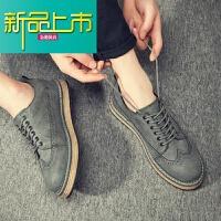 新品上市购秋冬新款男鞋韩版真皮板鞋小皮鞋内增高加绒男士休闲鞋