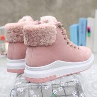 马丁靴加绒短靴女2018冬季新款秋冬靴子短筒女靴学生棉鞋女鞋棉靴