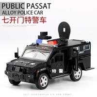 儿童玩具仿真警车模型合金大众小汽车男孩玩具警察车六开门车模