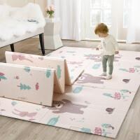 爬行垫折叠爬爬垫加厚家用婴儿游戏垫泡沫拼接地垫XPE爬垫T 韩色系 双面折叠 200*150*1CM ±