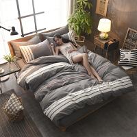 四件套全棉床上用品单双人被套1.5米1.8m床单被罩三4件套定制 1.5m(5英尺)床【被套200*230】 床笠款