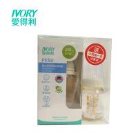 爱得利宽口径PES奶瓶240ML 带手柄吸管Y1016促销装送小奶瓶