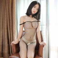 fm 性感开档女士连身丝袜网衣透明制服诱惑连体网袜 情趣内衣 女 骚