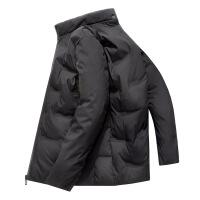 男士羽绒服短款2019冬季新款立领白鸭绒时尚加厚保暖外套男潮 黑色 M