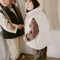 马甲儿童宝宝肩羽绒棉男童女童秋冬季加厚保暖立领外穿