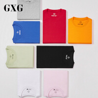 GXG男�b �色打底衫半袖衣服潮情�H�A�I短袖T恤男182844329