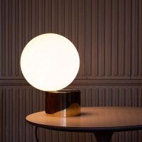 现代简约五金铁艺金色玻璃白色圆球台灯书房样板房卧室床头小台灯